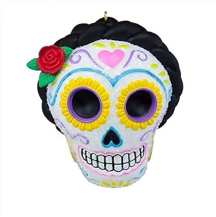 da de los muertos halloween sugar skull ornament