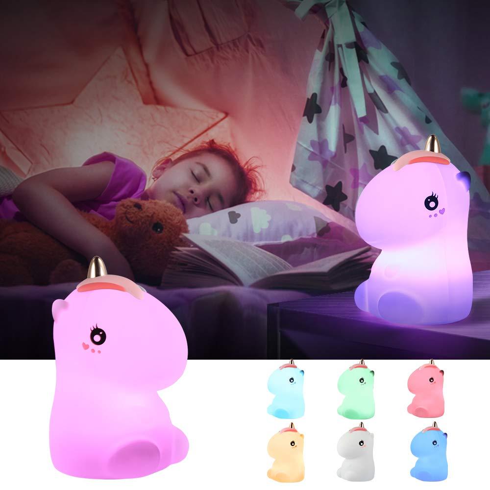 UNICORN LED LIGHT UP  WOODEN GIRLS BEDROOM NIGHT LAMP FANTASY CHRISTMAS GIFT