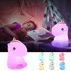 Unicorn Gifts for Girls,GoLine Unicorn Night Lights for Kids Christmas,Best Gifts for 2 3 4 5 6 7 8 Year Old Girls Kids,Cute Unicorn Night Light for Bedroom.