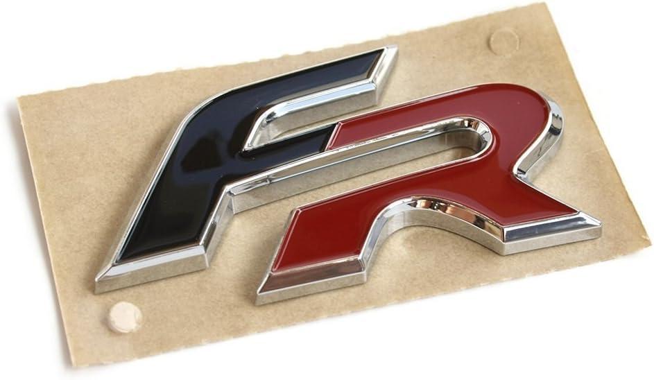 Emblema original de Seat FR, para portón trasero Formula Racing Tuning