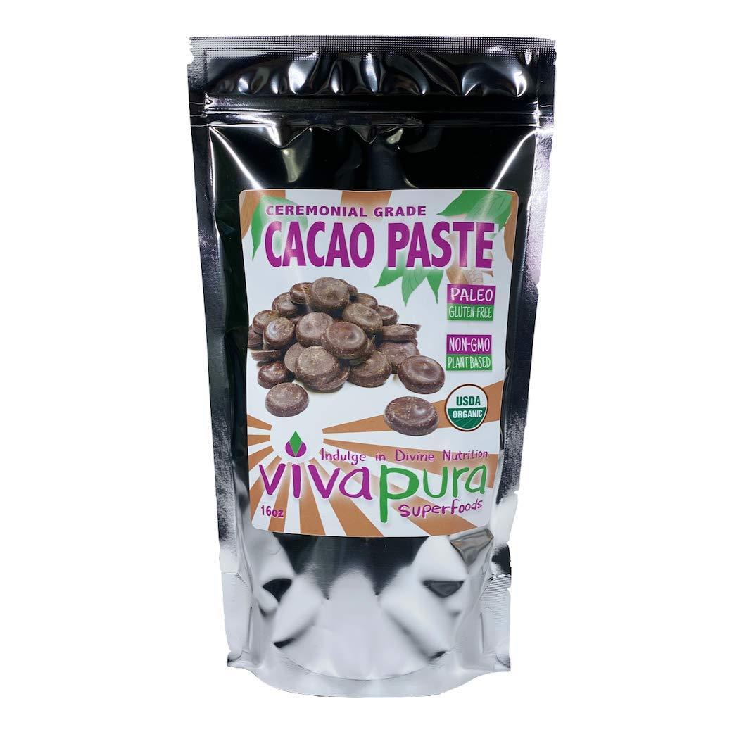 Cacao Paste, Ceremonial Grade, Organic,16oz