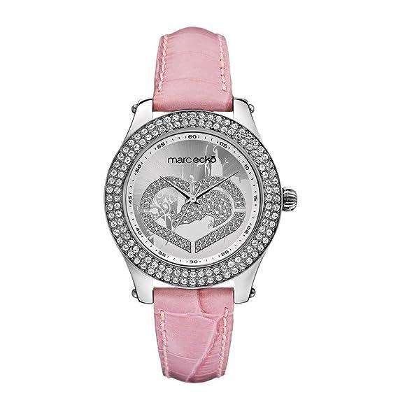 Marc Ecko E10038M7 - Reloj para Mujeres, Correa de Cuero Color Rosa: Amazon.es: Relojes