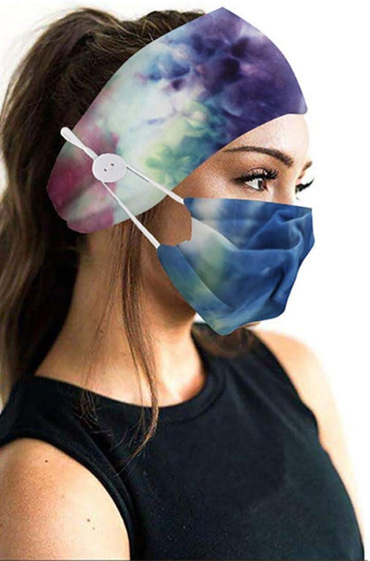 Cintas de cabeza con botones con una cubierta suave y transpirable para la cara Cubrimiento de la cara Entrenamiento Envoltura de pelo estirado