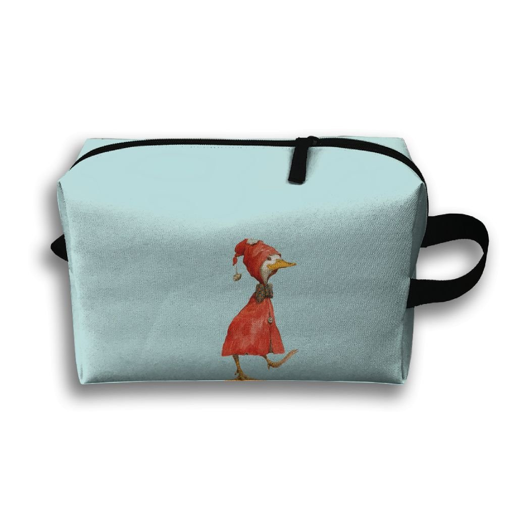 Unisex Cool Duck In Red Trench Coat Travel Bags Carry Storage Luggage Handbags