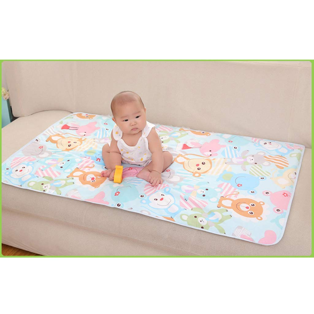 Baoblaze 60x90cm Cotton Baby Changing Pad Foldable Waterproof Travel Diaper Mat Crawling Dinosaur 90x60cm