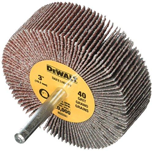 DEWALT DAFE1H0410 3-Inch by 1-Inch by 1/4-Inch HP 40g Flap Wheel