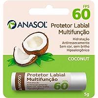 Anasol Protetor Solar Labial FPS 60 Coconut Côco 5 g