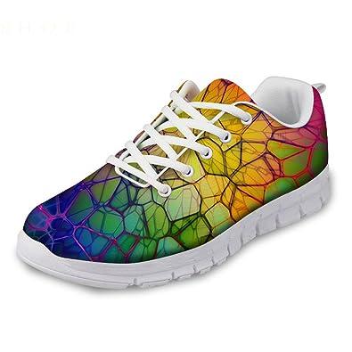 f26fd9b195647 Showudesigns Fashion Designer Sneakers Women's Lightweight Running Sport  Shoes