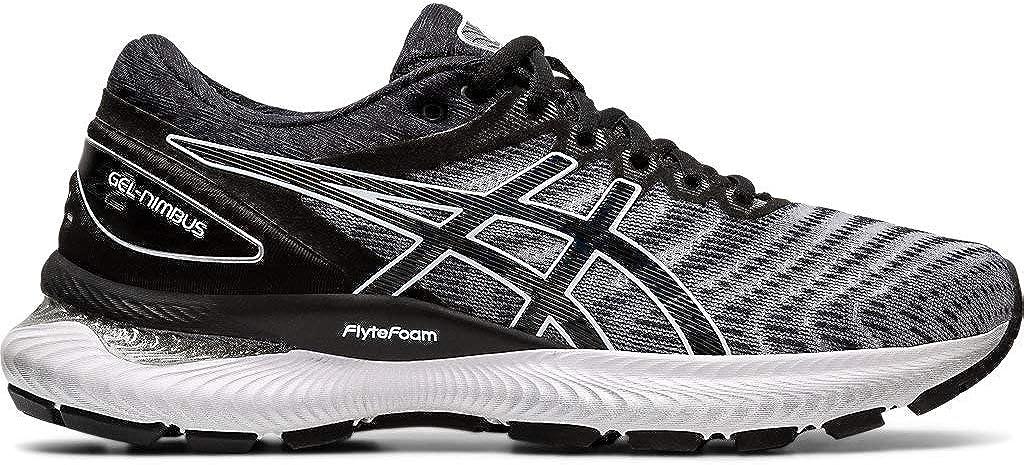 Zapatillas de correr Asics Gel-Nimbus 22 (D) para mujer, Blanco (Blanco/ Negro), 42.5 EU: Amazon.es: Zapatos y complementos