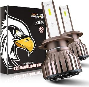 H7 LED 10800LM Bombillas para Montaje de Faros Delanteros de Coches, 12V, 6000K