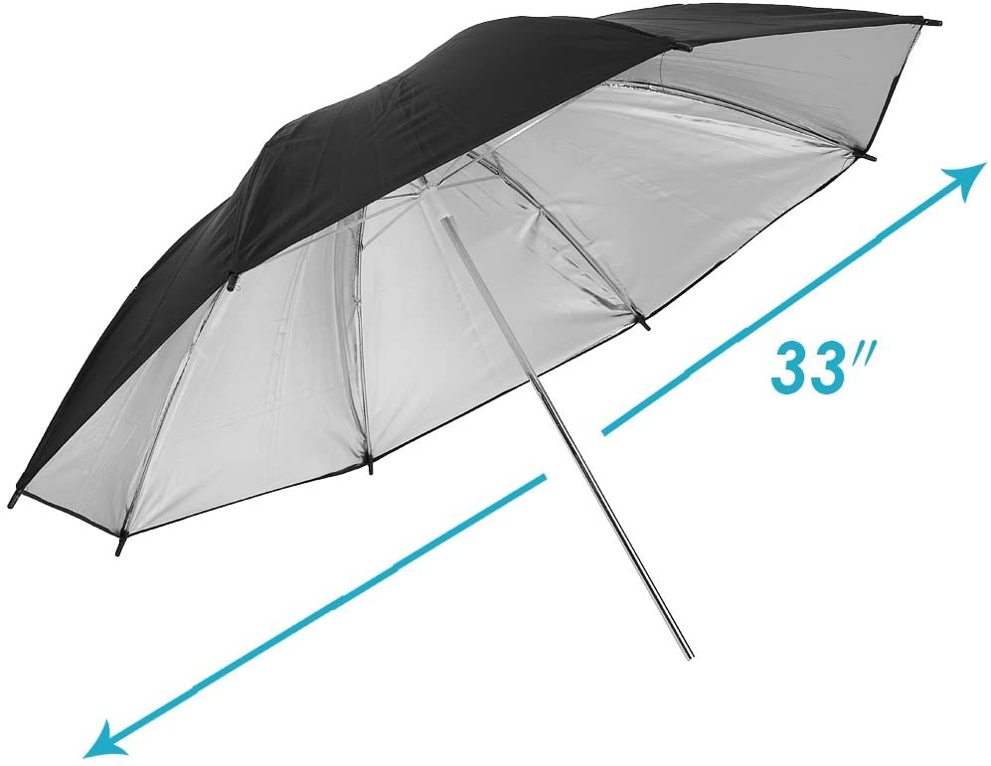 Black//Silver Neewer 33 Studio Lighting Reflective Umbrella