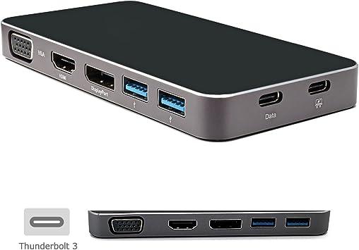 Thunderbolt3 USB 3.1 to DP VGA HDMI HUB /& Dual Type-C Female Adapter USA