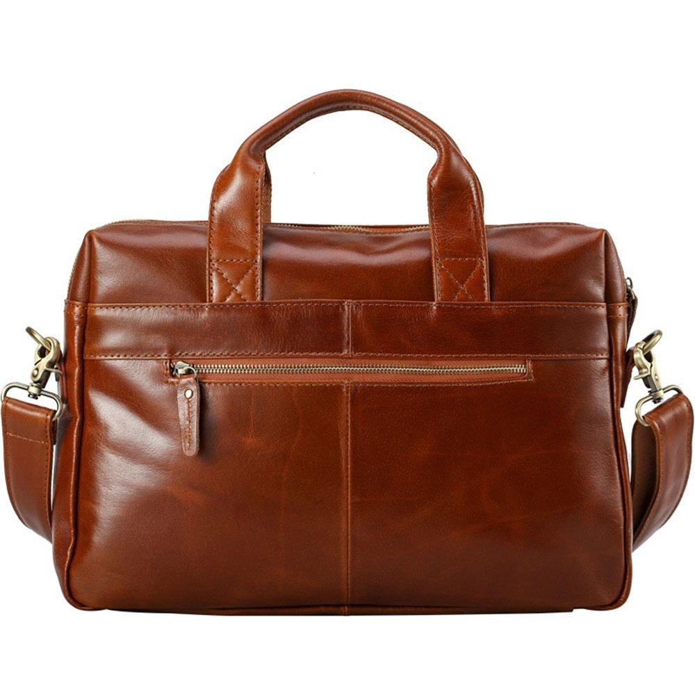 fb007ff0e5 Porte-documents et sacs ordinateur Yiwuhu Sac Homme Office Brown Vintage  Style Messenger en Cuir Satchel Sac à Main Sac de ...