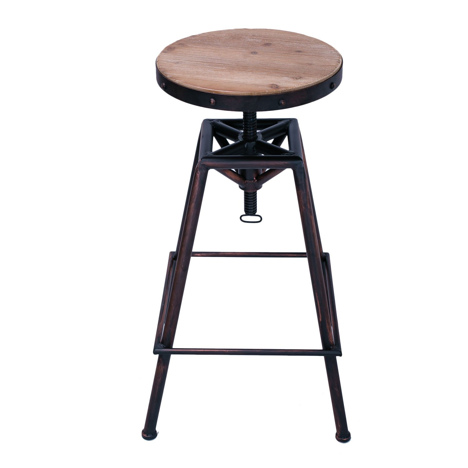 Adeco Metal Bar Stool Barstool Adjustable Height With