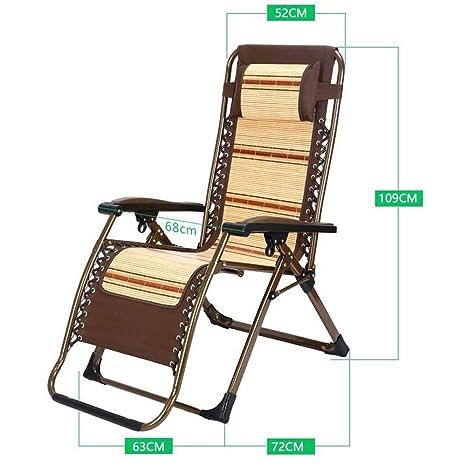 MJK Sillas reclinables plegables, tumbonas Silla de bambú ...