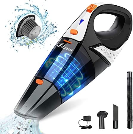 Mini Vacuum Cleaner Powered by Li-ion Battery Rechargeable Quick Charge Tech Hand Vacuum Cordless with High Power for Home and Car Cleaning CHUANGE Car Vacuum