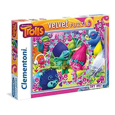 Clementoni Floccato Trolls Supercolor Puzzle 60 Pezzi 20138