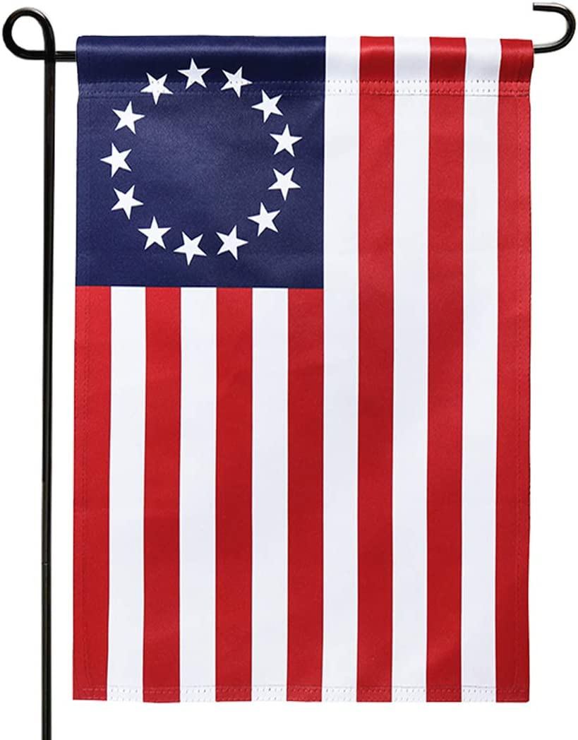 ROTERDON American Garden Flag - 12x18 Inch US 13 Star Betsy Ross Garden Flag Double Side Patriotic Outdoor Lawn Flag