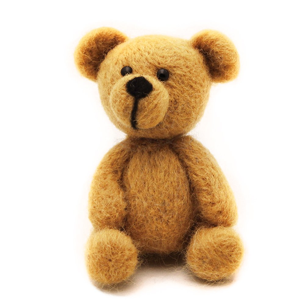 WOOLQUEEN Animal Needle Felting Character Kits, Bear,DIY Kit