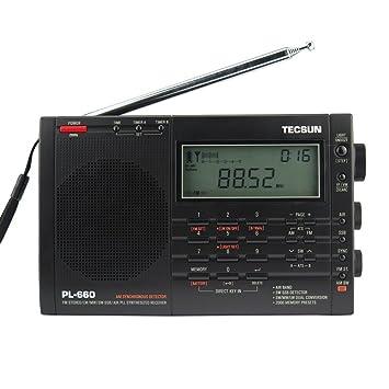 TECSUN PL-660 Dual Conversion Portable Digital Radio FM Stereo/MW/SW/