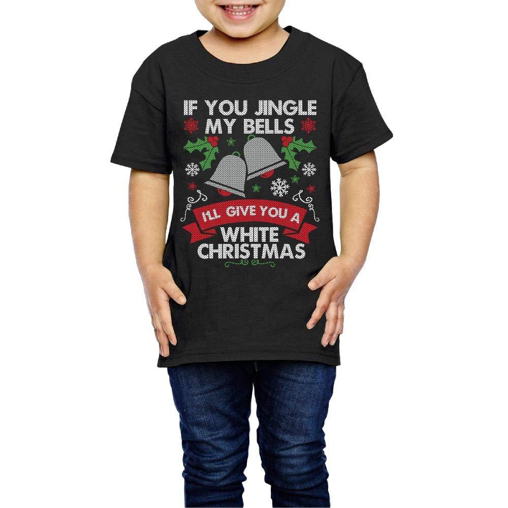 Jingle My Bells Funny Christmas 2-6 Years Old Boys /& Girls Short-Sleeved Tee Shirts