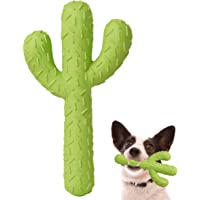 MewaJump Dog Chew Toys, Durable Rubber Dog Toys for Aggressive Chewers, Cactus Tough Toys for Training and Cleaning…