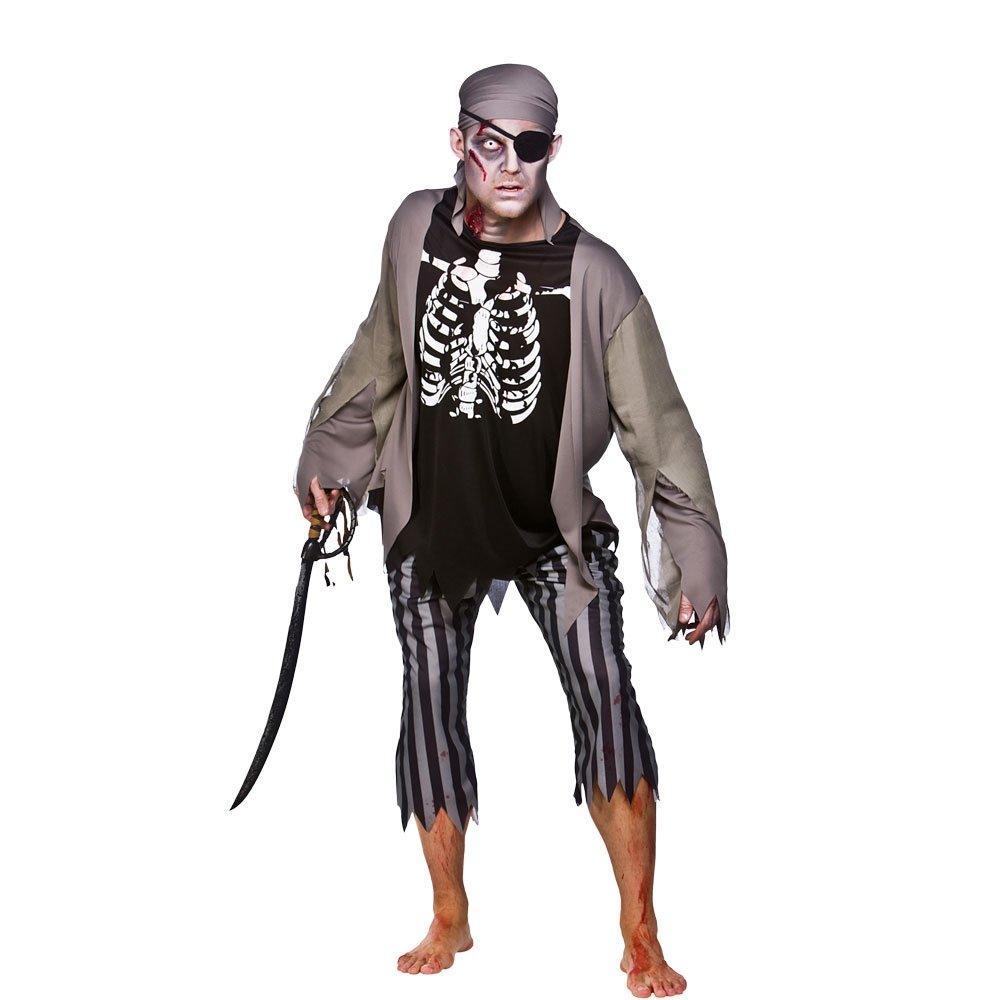 Amazon.com: Disfraz de esqueleto pirata para hombre, para ...