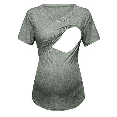 código promocional 21037 9947b Vectry Camisetas Premama Verano Manga Corta De Las Mujer De ...