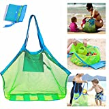 Mesh Beach Bag Extra Large Beach Bags and Totes Tote Backpack Toys Towels Sand Away For Holding Beach Toys Children' Toys Market Grocery Picnic Tote