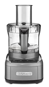 Cuisinart FP-8GM Elemental 8 Cup Food Processor, Gunmetal (Certified Refurbished)