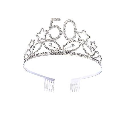 Beaupretty Corona Cumpleaños 50 Años Diadema Cumpleaños ...