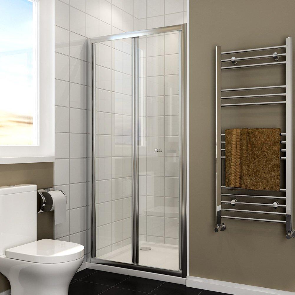 800mm Bifold Shower Enclosure Reversible Folding Shower Cubicle Door ELEGANT