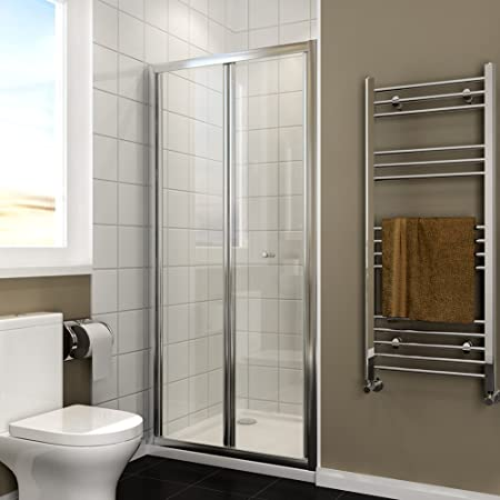 ELEGANT 900mm Bifold Shower Enclosure Reversible Folding Cubicle Door