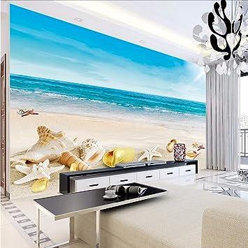 QThxqa foto carta 3d camera da letto mare spiaggia ...