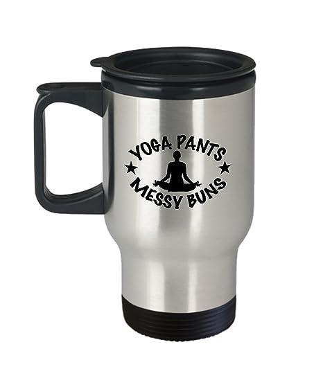 Amazon.com: Taza de viaje para café, yoga, pantalones ...