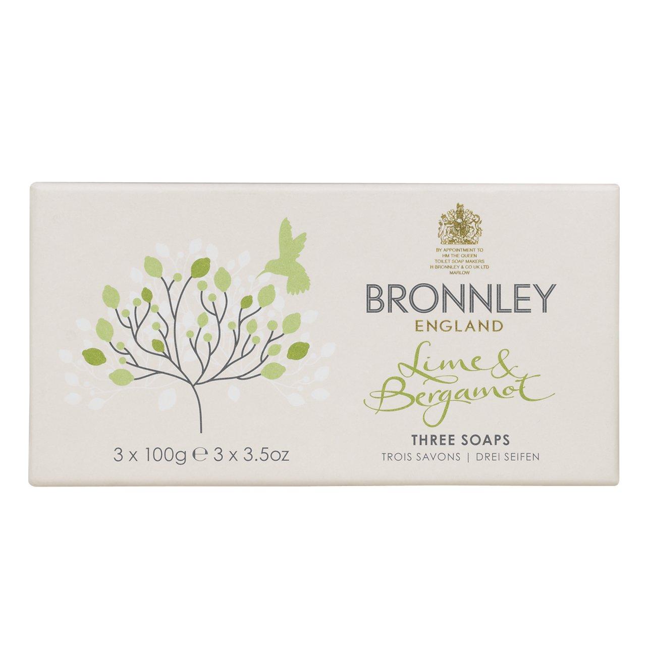 Bronnley Lime & Bergamot Soaps 3 x 100g H. Bronnley & Co. UK Ltd. 253200