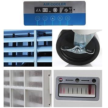 3 Modus USB Luft Kühler Klimaanlage Luftbefeuchter Büro Windmaschine Ventilator