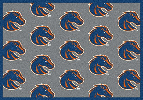 SQUARE 10'X10' BOISE STATE - Custom NCAA Team Repeat Area Rug (41 sizes and shapes) Broadloom Carpet by MILLIKEN - Collegiate Football Logo with Premium Bound Edges (Boise State Football Square)
