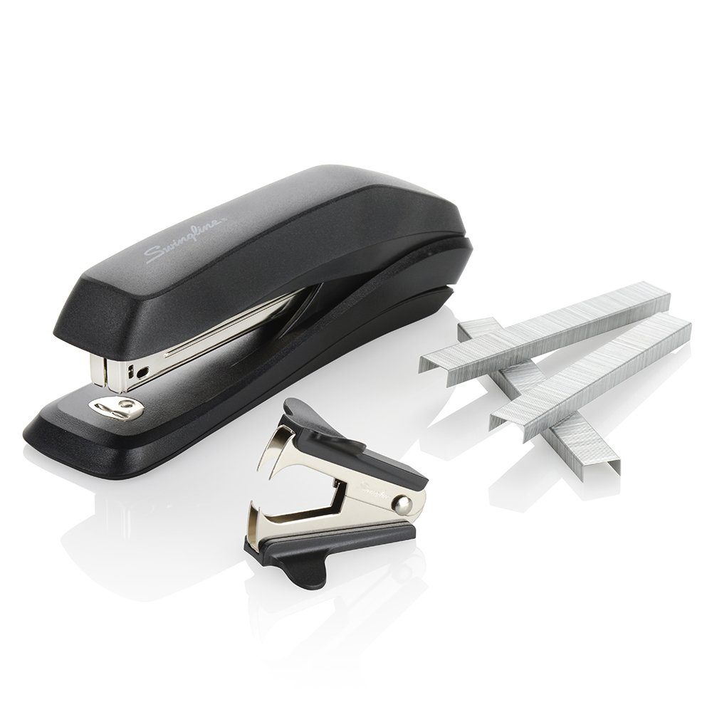 Swingline Stapler Value Pack, Antimicrobial Stapler, 15 Sheet Capacity, includes Staples & Stapler Remover (S70754551H)
