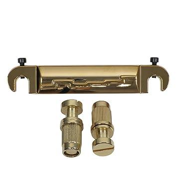 FLEOR Wrap Around para puente para guitarra eléctrica Les Paul Estilo SG guitarra parte, Golden: Amazon.es: Instrumentos musicales