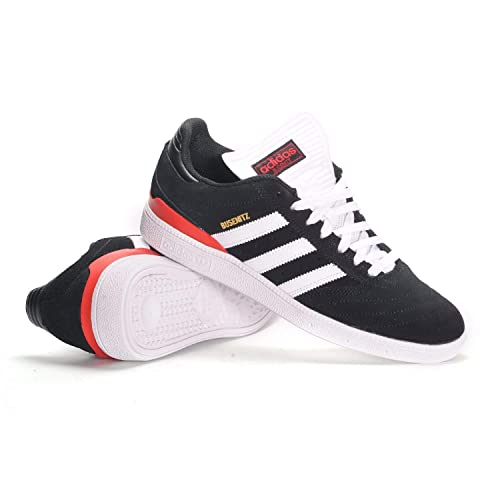 adidas Busenitz (BlackWhiteScarlett) Mens Skate Shoes (6.5 D(