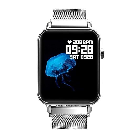 POJIETT Reloj Inteligente Hombre Mujer Impermeable IP67 Monitor de Actividad Cuadrado Reloj Fitness Pulsera Actividad Pulsómetro Monitor de Ritmo Cardíaco ...