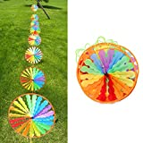 Yumian Baby room decoration Party ornament (Set of 8) Turntable Windmill String