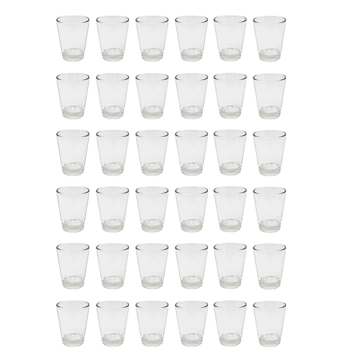 Round 2 oz. Shot Clear Glasses With Heavy Base (36)