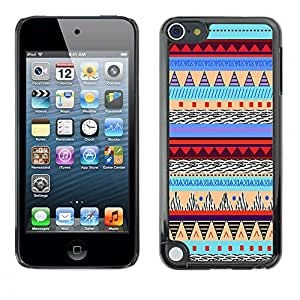 - Hipstr Nebula Aztec Tribal Pattern - - Monedero pared Design Premium cuero del tir¨®n magn¨¦tico delgado del caso de la cubierta pata de ca FOR Apple iPod Touch 5TH GEN Funny House