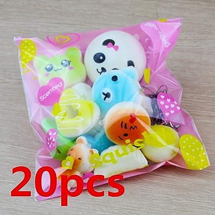 ZJL220 Squishy Cake Panda Bread Donut Keychain Slow Rising ...