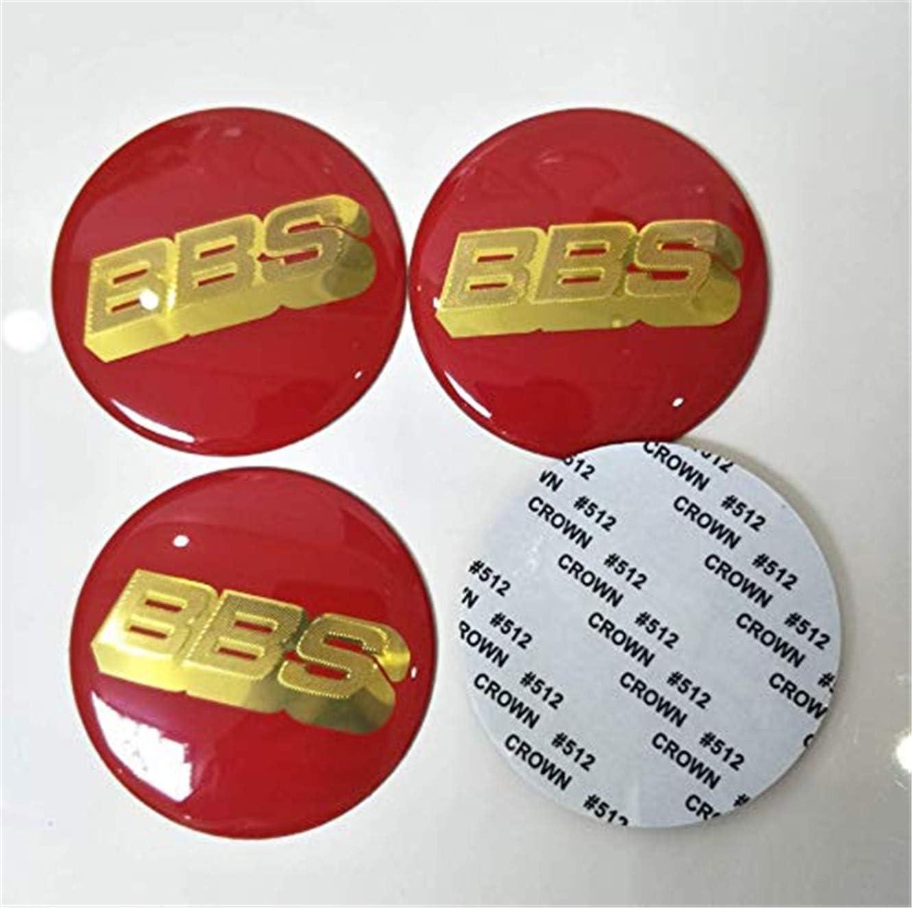 65mm BBS Rojo//Oro Rueda Centro Tapa Pegatina Logo 3D Calcoman/ía kaixin 4X S/ólo Pegatina