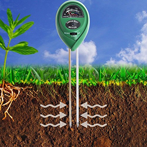Soil pH Meter, 3-in-1 Soil Test Kit For Moisture, Light & pH, for Home And Garden, Lawn, Farm, Plants, Herbs & Gardening Tools, Indoor/Outdoors Plant Care Soil Tester