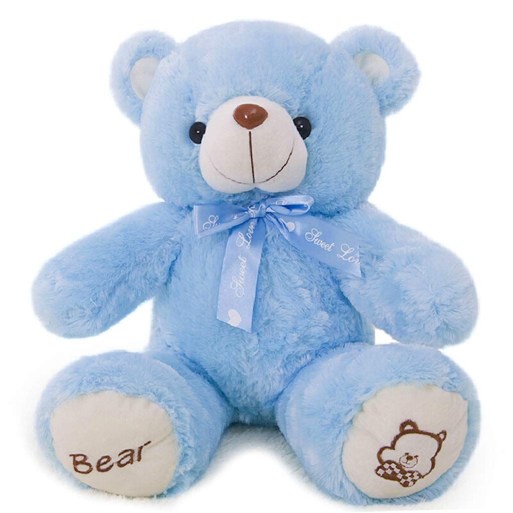 bluee Zhijiewanju Giant Teddy Bear With Plush Stuffed Animals Light Brown, Brown, bluee, Pink 100cm 39inches (color   Light Brown)