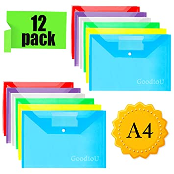 A4 Pochette 12 Transparente Porte Document Pcs Plastique wStxq6Sv